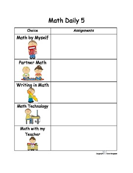 Math Daily 5 Workshop Poster