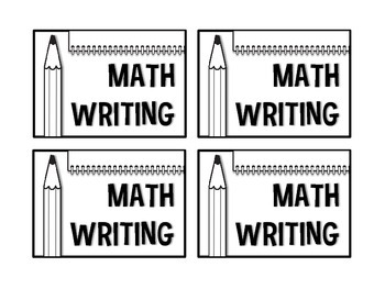 Math Daily 5 or 3 Labels