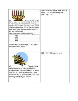 Math-2nd Grade-Month 4: Challenge Problem Solving, (Questions 61-80)