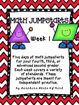 Math Daily Jumpstarts Week 1