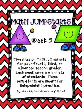 Math Daily Jumpstarts Week 5