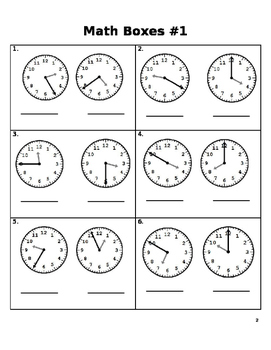 Math Daily Lesson Packet
