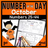 First Grade Math Number of the Day |Common Core & TEKS| Oct. NO PREP JUST PRINT