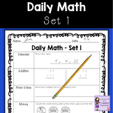 Math | Daily Morning Work | Daily Math Worksheets Set 1