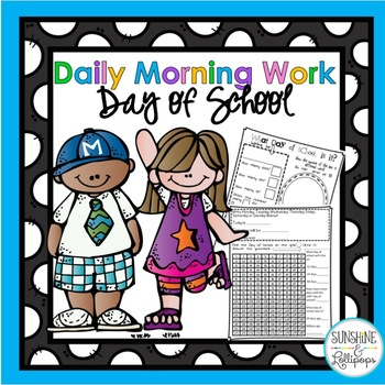Number of the Day Morning Work Booklet for 1st and 2nd Grade
