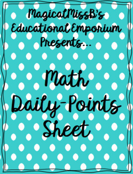 Math Daily-Points Sheet