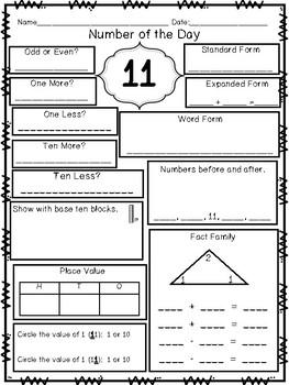 Math Daily Practice {Freebie}