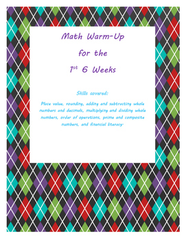 Math Review/Warm-Up