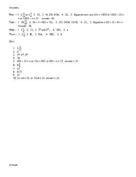 Math Daily Review Grade 5 Week 13