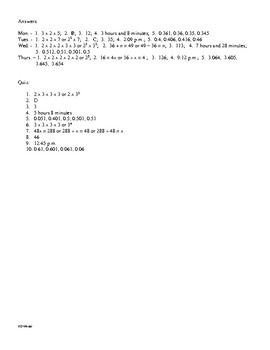 Math Daily Review Grade 5 Week 7