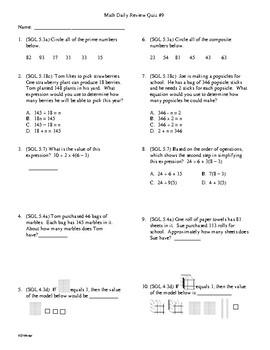 Math Daily Review Grade 5 Week 8