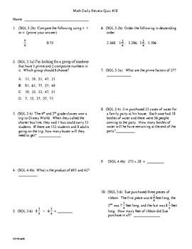 Math Daily Review Grade 5 Week 17