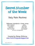 Math Daily Routines - Secret Number of the Week