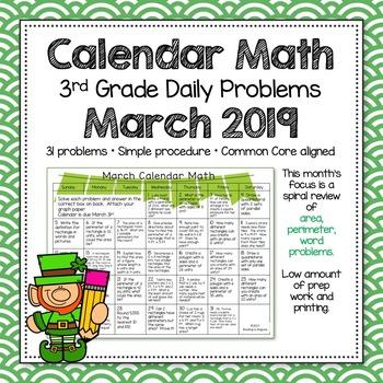3rd Grade Math Review March
