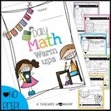Daily Math Warm Ups/Assessment MEGA Pack - Grade 3/4