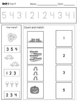 Math Daily Work for Kindergarten