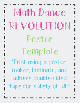 Math Dance Revolution- Student Dance Poster