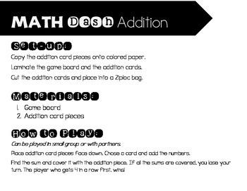 Math Dash Addition