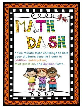 Math Dash:  Additon, Subtraction, Multiplication, and Divi