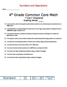 Math Data Charting for Students - 1