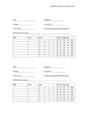Math Data Collection System