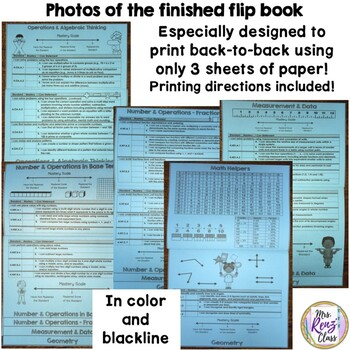 Math Data Tracking Flip Book (4th Grade 3 pt scale)