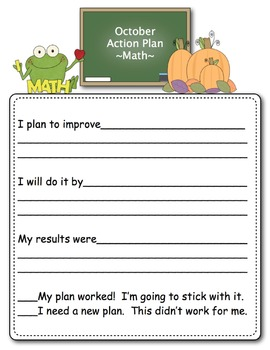 Math Data Folders and Personal Goal Setting for the Common Core {2nd Grade}