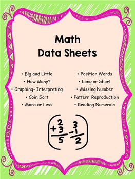 Math Data Sheets for Special Education: Editable!