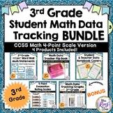 Student Math Data Tracking Bundled Set Common Core 3rd Gra