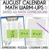 Math Dates, August | Math Enrichment | Number Puzzles