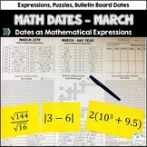 Daily Math Dates, March - Dates as Mathematical Expressions