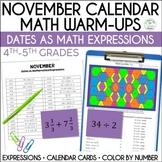 Daily Math Dates, November, Grades 4-5