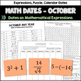 Math Dates, October | Math Enrichment | Number Puzzles