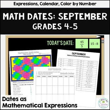 Math Dates, September, Grades 4-5 | Number Puzzle