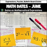 Math Dates and Number Puzzles, June