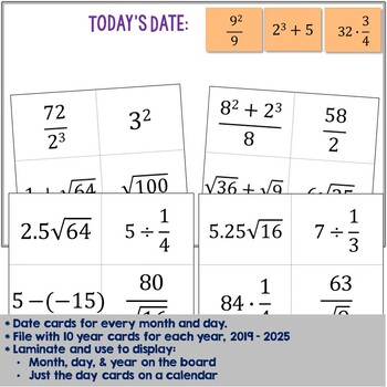 Math Dates with Number Puzzles, August 2017 - June 2018