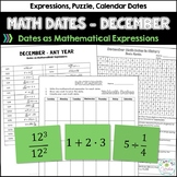 Math Dates with Number Puzzles, December