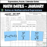 Math Dates with Number Puzzles, January