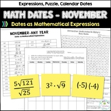 Math Dates with Number Puzzles, November