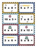 Math Day Multiplication Fact Activity/Fact Name Tags, Grades 3-6