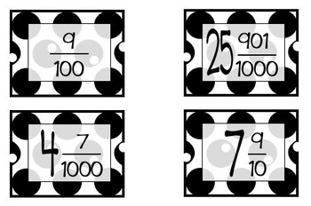 Decimal Bingo: Tenths-Thousandths Center Activity