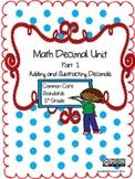 Math Decimal Unit Addition and Subtraction Grade 5