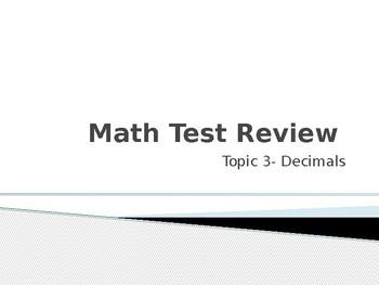 Math Decimals Review