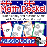 Math Decks! Build Fluency with Card Games (Aussie Coins)