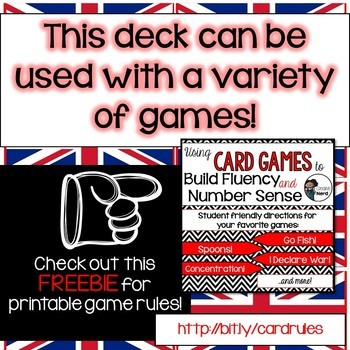 Math Decks! Build Fluency with Card Games (British UK Coins)