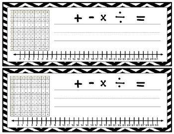 Math Desk Name Tag (Chevron Pattern)