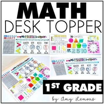 Math Desk Topper:  1st Grade