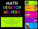 Math Desktop Helpers