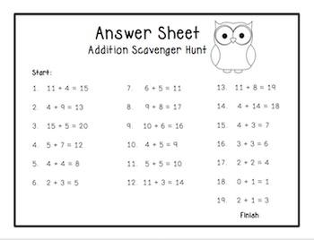 Math Detective: Addition Scavenger Hunt