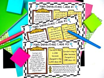Math Detective Task Cards * Justify & Explain Thinking in Multi-Step Problems *